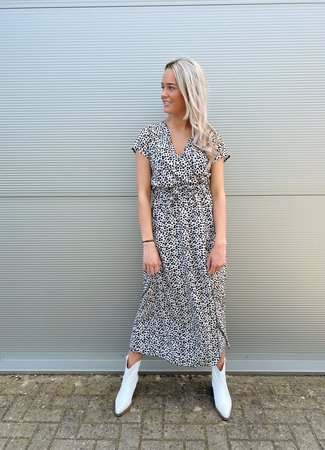 TESS V Julie maxi dress dotted beige