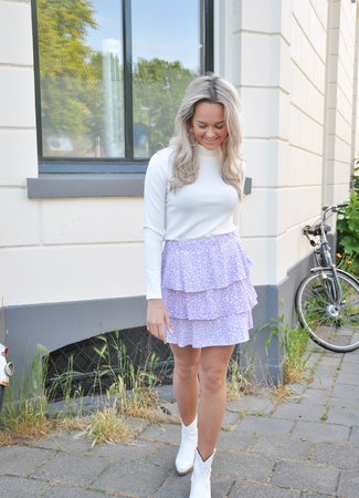 TESS V Amira skirt lila