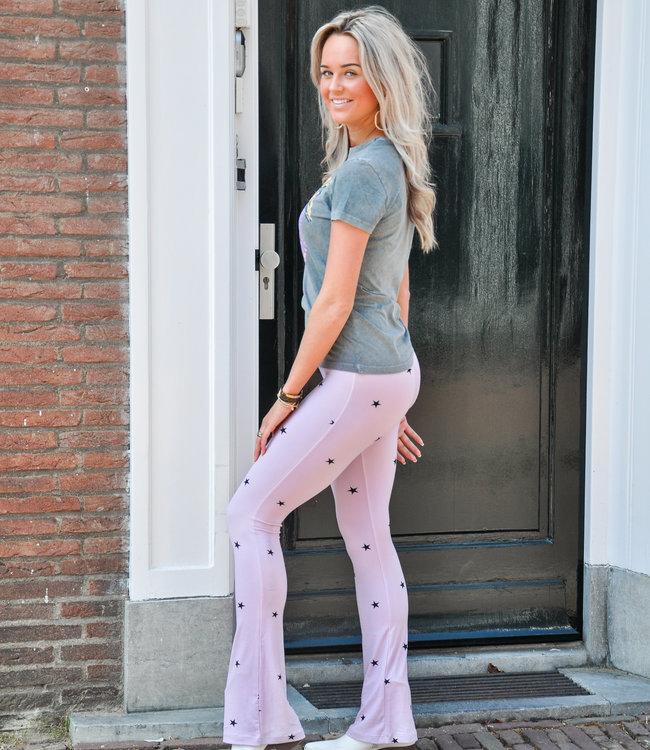 Dominique flared pants stars lila