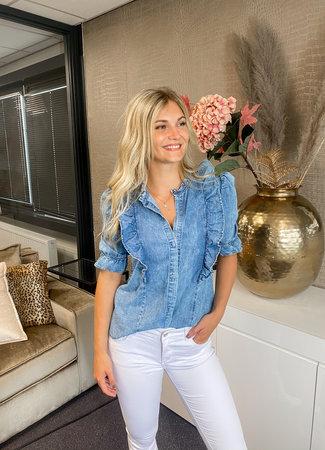 TESS V Juul denim blouse