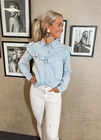 TESS V Lizzie denim blouse