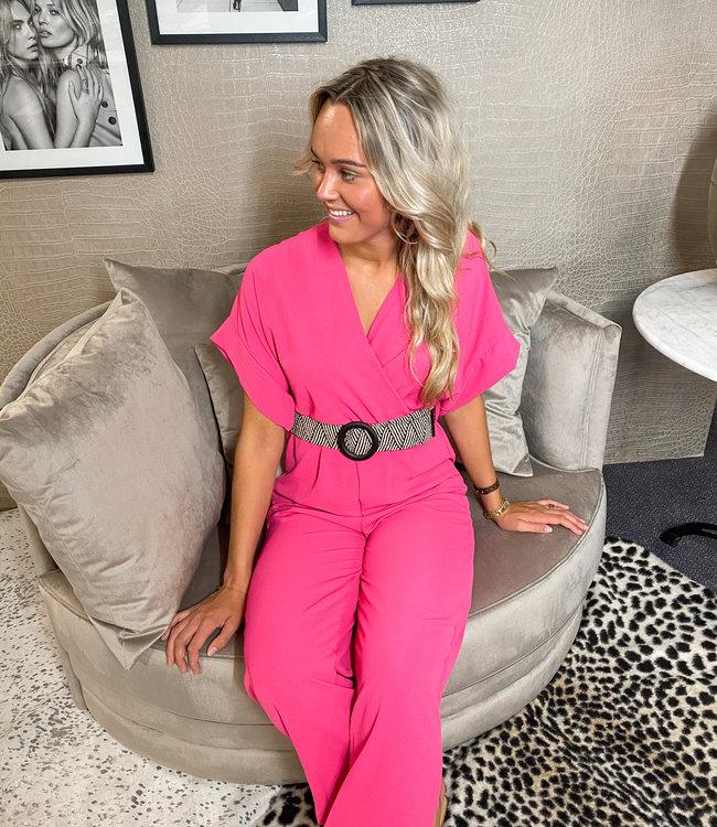 TESS V Britt jumpsuit pink