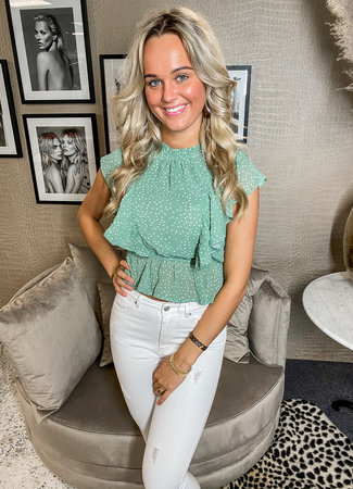 TESS V Vero blouse mint