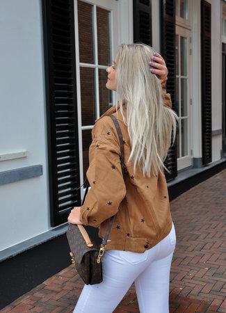 TESS V Stars jacket brown