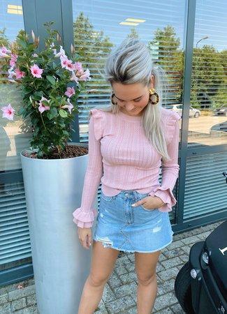 TESS V Lauren top light pink