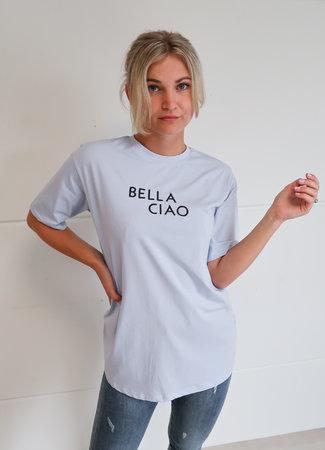 TESS V Ciao bella tee blue