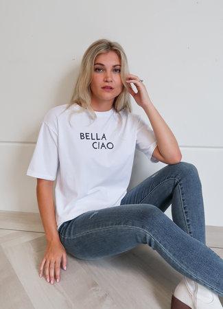 TESS V Ciao bella tee white