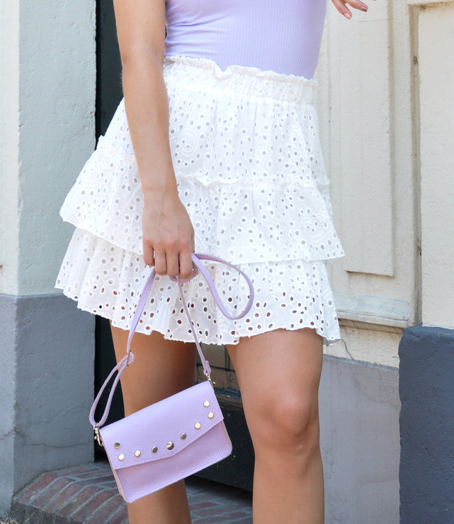 TESS V Nikkie skirt white
