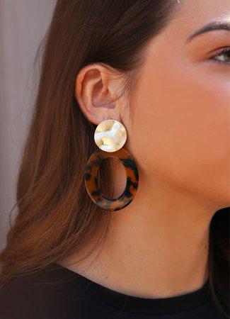 My Jewellery Statement oorbellen bruin