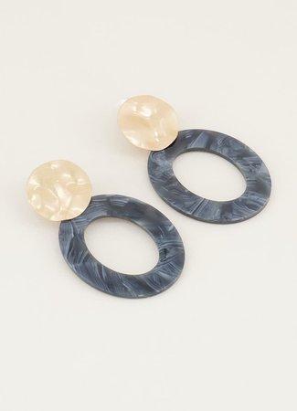 My Jewellery Statement oorbellen grijs