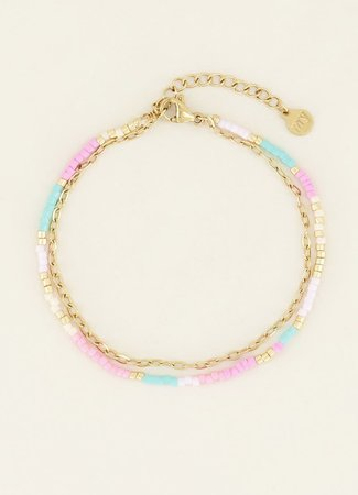 My Jewellery Dubbele armband kralen & schakels