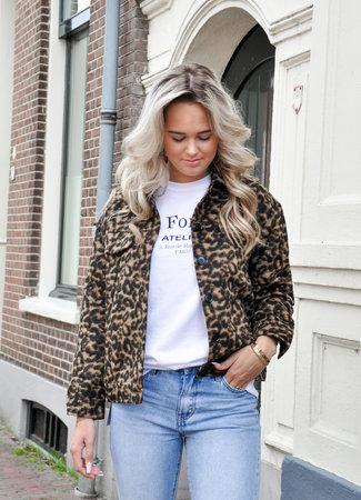 TESS V Lio leopard jacket