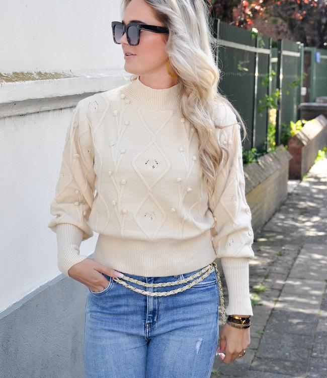 TESS V Jasmijn sweater beige