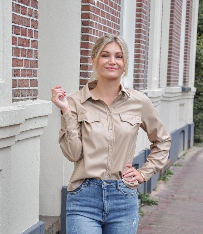 TESS V Chelsea blouse beige
