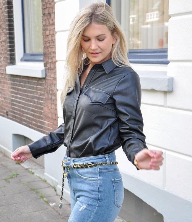 TESS V Chelsea blouse black
