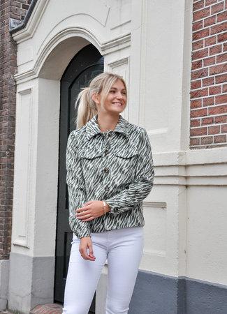 TESS V Lio zebra jacket green