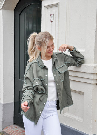 TESS V Liv jacket green
