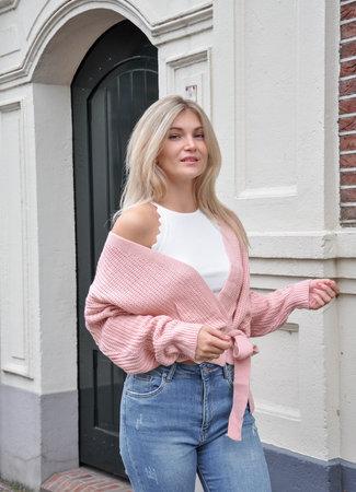 TESS V Wikkel vest roze