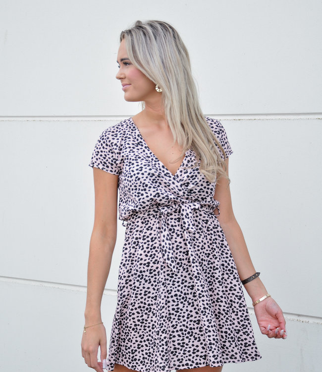 TESS V Bobbie dress dotted pink