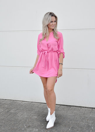 TESS V Hella dress pink