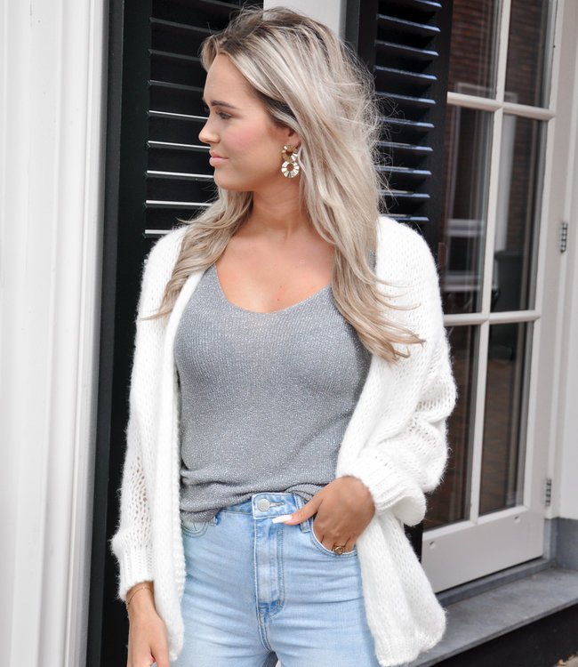 Jessie vest white