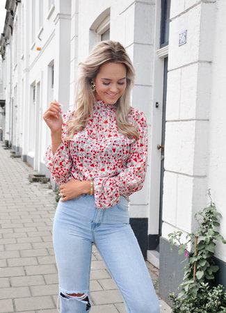 TESS V Sofie blouse red