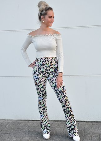 Dominique flared pants green