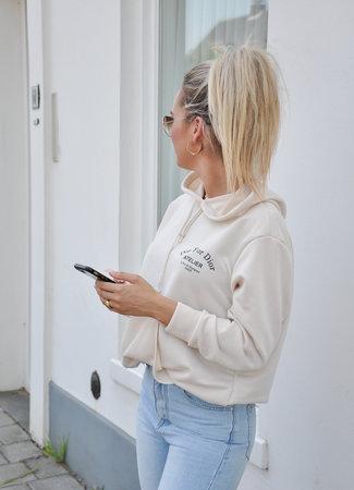 TESS V Atelier hoodie beige
