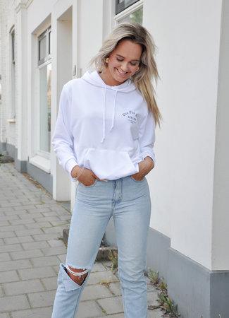 TESS V Atelier hoodie white black