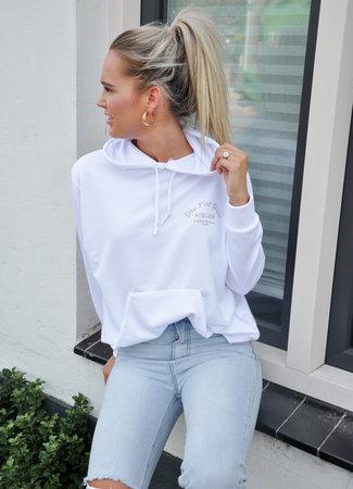 TESS V Atelier hoodie white beige