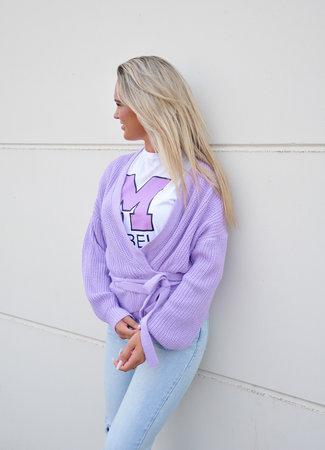 TESS V Lulu wikkel vest purple