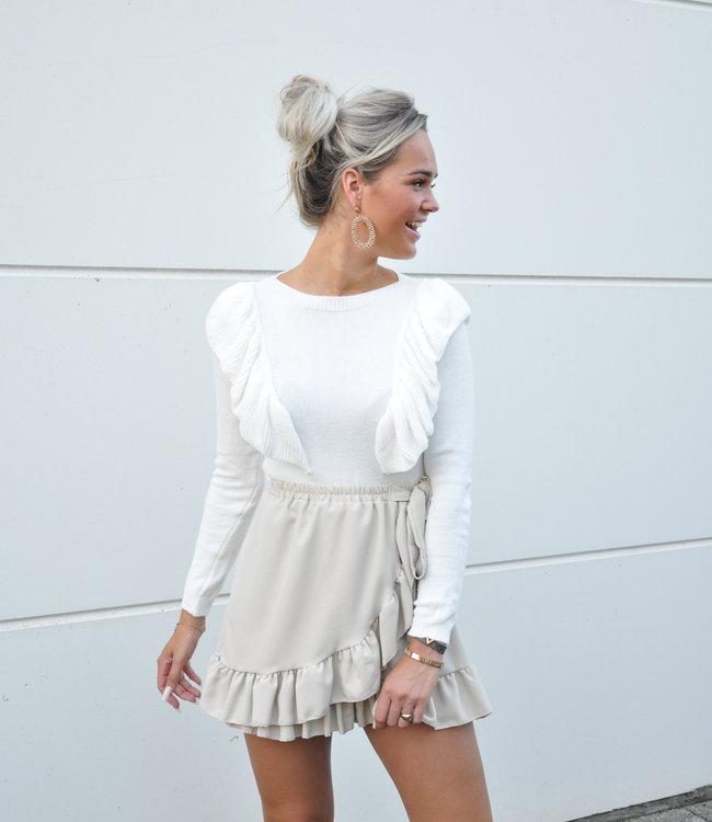 TESS V Lou sweater white