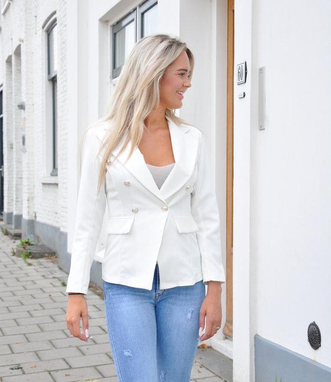TESS V Bodil blazer white