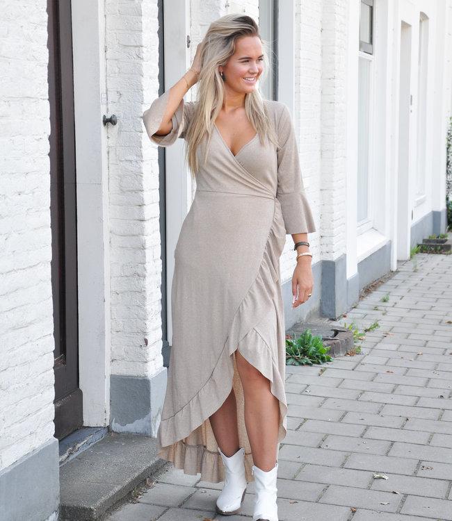 TESS V Avery maxi dress beige