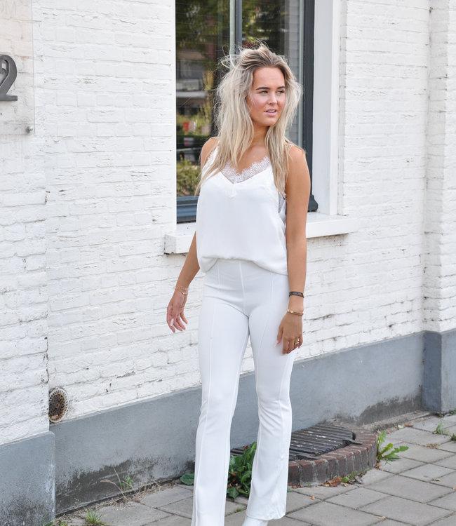 Chloe flared pants white
