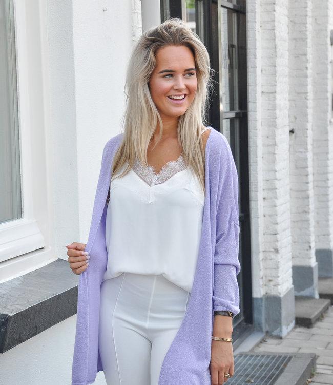 TESS V Nomi lurex vest lila