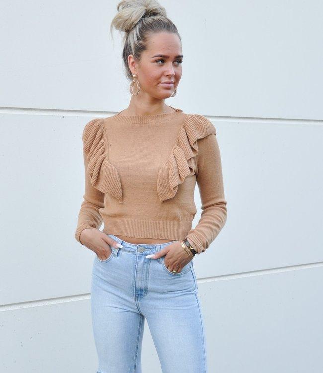TESS V Lou sweater brown