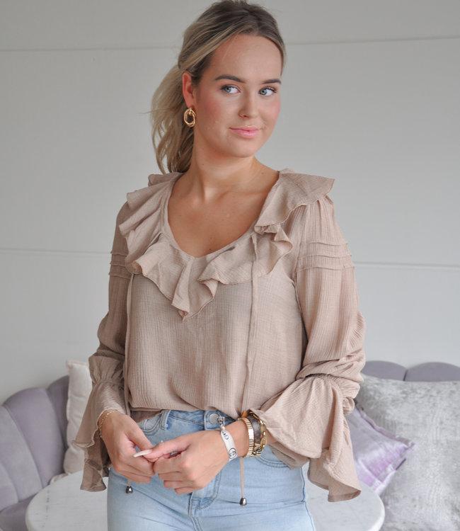 TESS V Alyssa blouse beige
