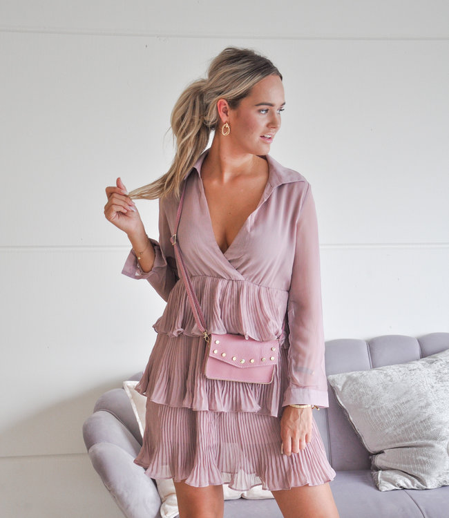 TESS V Carly dress pink