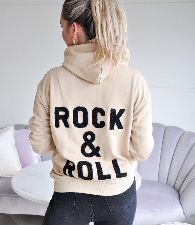 TESS V Rock hoodie beige