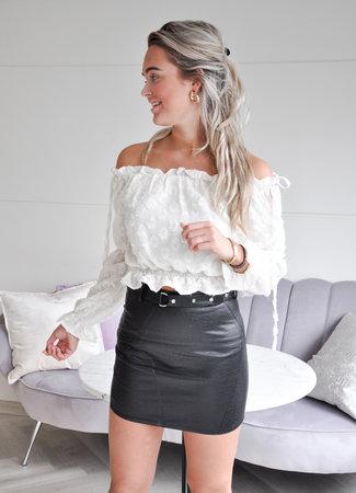 TESS V Isabel leather skirt