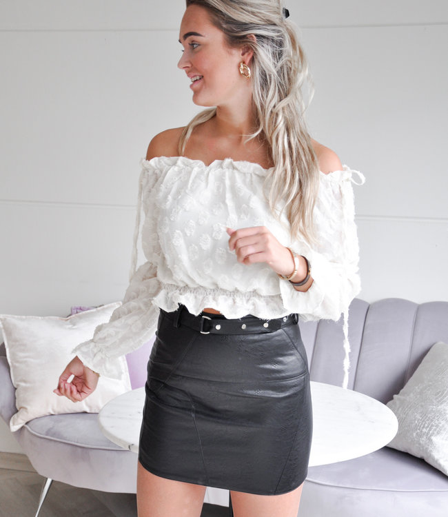 TESS V Isabel leather skirt