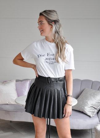 TESS V Jane leather skirt