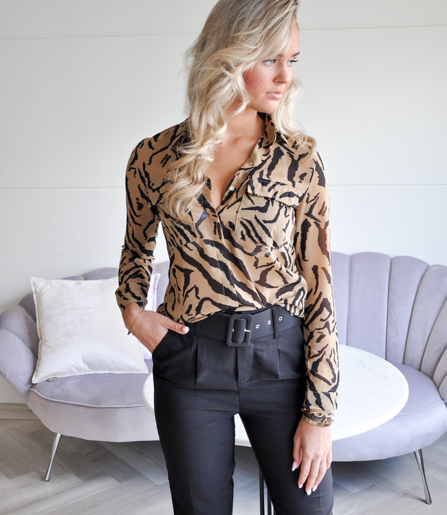 Lena zebra blouse