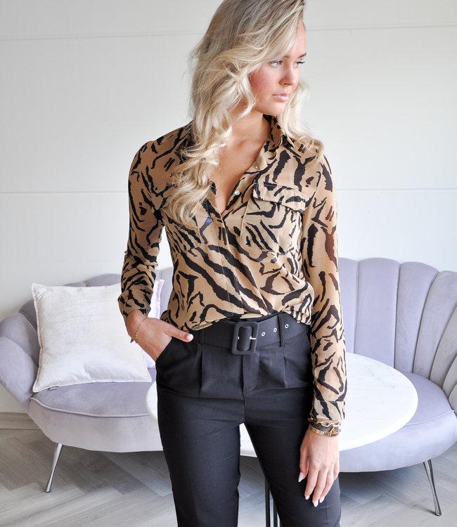 TESS V Lena zebra blouse