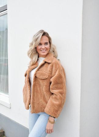 Anna teddy jacket beige
