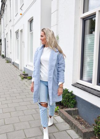 TESS V Jill coat blue