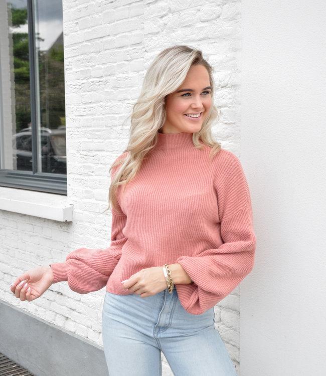 TESS V Sammy sweater pink