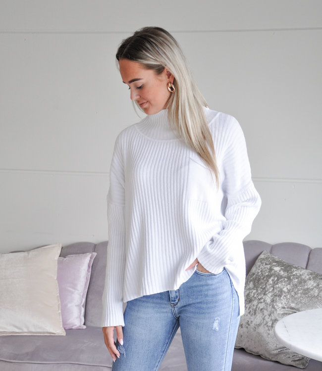 TESS V Mirthe sweater white