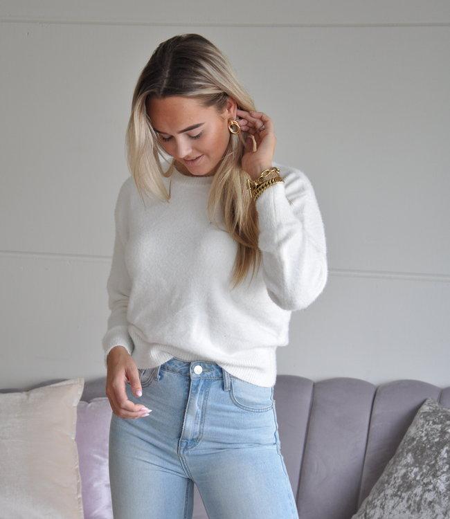 TESS V Lotte sweater white
